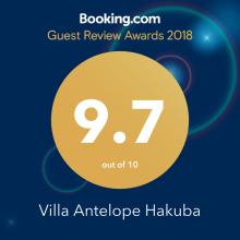 Villa Antelope HAKUBA Booking.com Guest Review Awards 2018